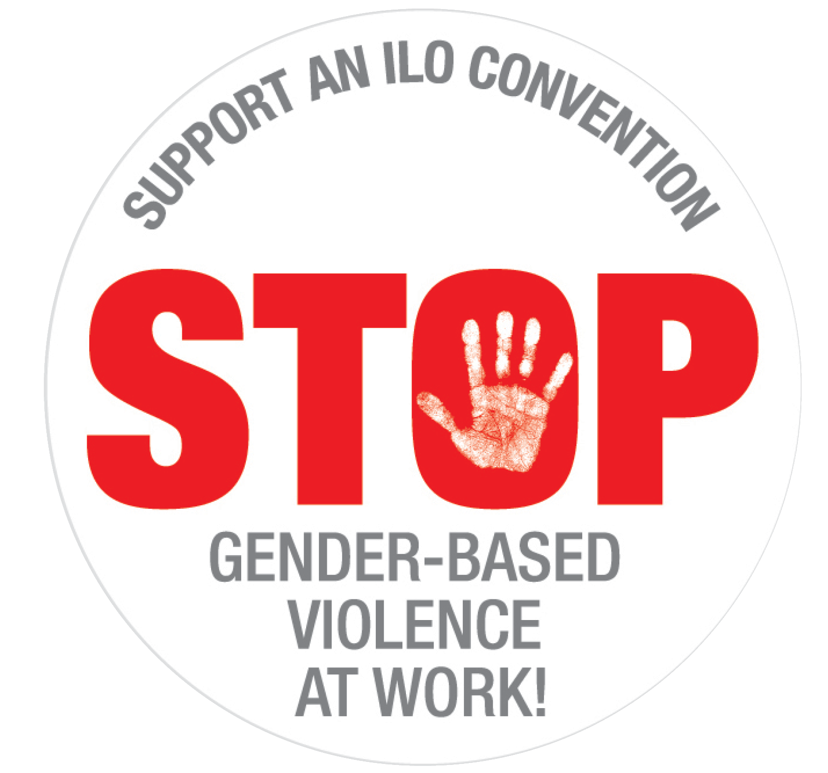 Logga Stop Genderbased violence at work!