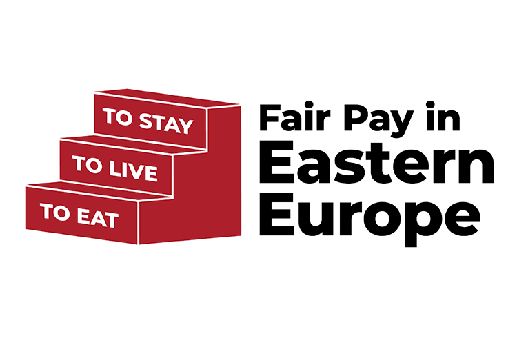 Logo: Fair pay in Eastern Europe: to eat, to live, to stay