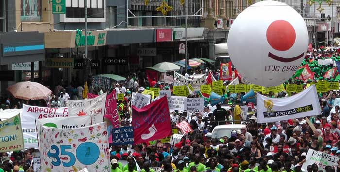 Trade unions on the move for Rio+20